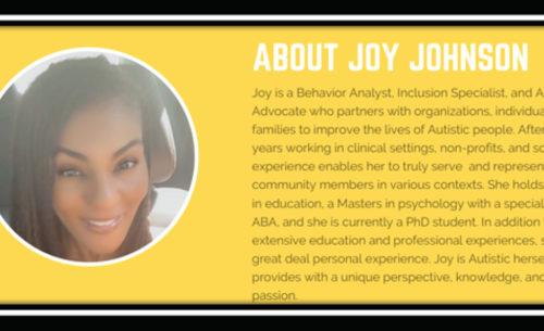 Autism Awareness & Advocacy: a Q&A with Joy Johnson